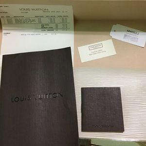 LV White Sevigne Epi Clutch